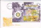 Papua New Guinea -2007 Rotary 50 Years Of Service  Sheetlet  FDC - Papoea-Nieuw-Guinea