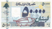 Lebanon, Banknotes 50.000 LL High Value Year 2001- Rare- Uncirculated-SKRILL PAYMENT ONLY-serial Number May Change - Lebanon
