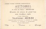 AUTOBEL Allée Du Cloitre BRUXELLES - Taxi & Carrozzelle