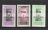 Togo 84-85-87 *  TB - Togo (1914-1960)