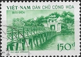 VIETNAM (NORTH) 1958 Temple Of Jade, Hanoi - 150d. - Green FU - Vietnam