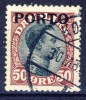##Denmark Postal Due1921. Michel 7. Cancelled(o) - Port Dû (Taxe)