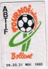 Football  écuson _grand Fanion  Plastifié .16 Cm X 27cm    BOLLENE  1993 - Habillement, Souvenirs & Autres