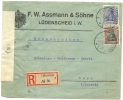 Germany R-brief Censor PERFIN A&S F.W. Assmann & Sohne Ludenscheid 26-3-1920 (E1537) - Duitsland