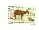 Epreuvre De Luxe Centra Africaine La Course Du Cephalophe Et L'Achatine (E1542) - Schaaldieren