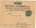 Austria Privat Postal Stationary Hutter & Schrantz Siebwaren- Und Filzuchfabriken, Wien 14-4-1908 (E1550) - Textiel