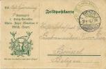 Feldpostkarte Compagnie E Ersass-Bataillon Rhein Jager-Bataillon Bitch 11-8-1916 Deer (E1556) - WO1