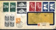 1948  Lettre Recommandée Du 1er Mars Pour Le Canada 2 Séries Centenaire De La Constitution,  Pysages Mi Nr 305 X 4, 300 - Schweiz