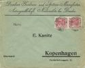 Germany Firm Cover PERFIN Dresden Gardinen- Und Spitzen-Manufactor Niedersedlitz Bei Dresden 15-7-1918 (E1565) - Duitsland