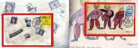2011 Folder Inaugurazione Circolo Filatelico Numismatico Collezionistico Romano - 2 Cartoline Con Annullo Manifestazione - Manifestazioni