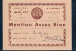 Morges, Mention De L'Institut De Jeunes Gens De La Longeraie (1941) - Vieux Papiers