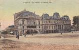 Le Theatre Hotel De Ville Animée  Colorisee - Autun