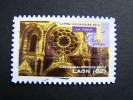 OBLITERE FRANCE ANNEE 2011 N° 554 SERIE ART GOTHIQUE CATHEDRALE NOTRE DAME DE LAON  AUTOCOLLANT ADHESIF - France