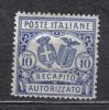 AP205 - REGNO 1928 , Recapito Autorizzato Il N. 2  *  Mint . Dent 14 - 1900-44 Victor Emmanuel III