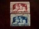 BELGIUM 1935  QUEEN ASTRID´S APPEAL Part Set TWO VALUES USED. - Belgium