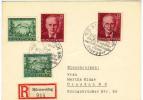 Österreich , 1943, 100.Geb.v. Rosegger - Mi.855+856  2x Auf Adresskarton-Reko Mit Sonderstempel U.Rekozettel (8966W) - 1918-1945 1. Republik