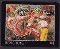 Hong Kong Airmail Par Avion Label Carnival Dragon 1992 PPC 1992 Sent To Denmark (2 Scans) - China (Hong Kong)