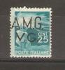 VENEZIA GIULIA - 1945 ISSUE 25L OVERPRINT MH * - 7. Trieste