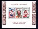 20e An Du 1er Timbre « Polynésie Française », Bf 4**, Cote 18,50 € - Polynésie Française