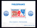 Polynesie,1982  PHILEXFRANCE Bloc 6  **, Cote 21 €, - Polynésie Française