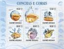 GUINEA BISSAU 2009 -  Shells & Corals - Mi 4480-4484, YT 3119-3123 - Schelpen