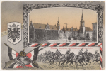 CPA RIESA - ALBERTPLATZ MIT RATHAUS UND KLOITERKIRCHE - 1914 - Riesa
