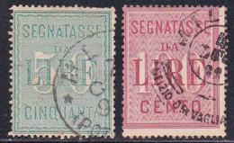 ITALIE - 1884 - YVERT N°20/21 OBLITERES - TAXE - COTE = 60 EUROS - 1878-00 Humbert I.