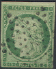 # France    2, Used, Green, Sound, Clean,  SCV$1500  (fr002-19    Mich 2a   [16-AEER - 1849-1850 Ceres