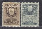 R65 - SAN MARINO 1907 ,   Serie 47/48  *  Mint . DIFETTOSA - Ungebraucht