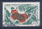 Lebanon, Scott #C429 Used Butterfly, 1965 - Lebanon