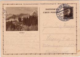 TCHECOSLOVAQUIE - 1934 - CARTE POSTALE ENTIER ILLUSTREE (BILDPOSTKARTE) De TEPLICE Pour LEIPZIG (GERMANY) - Postal Stationery