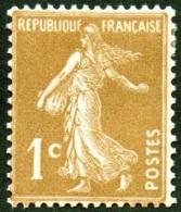 France - N°  277 B * SEMEUSE DE ROTY - 1 Ct Bistre Brun - France