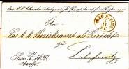 BOHEME - 1859 - LETTRE ADMINISTRATIVE De PRAGUE Pour LIBOCHOWITZ - AIGLE IMPRIME A SEC AU DOS - Tchécoslovaquie