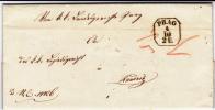 BOHEME - 1851 - LETTRE ADMINISTRATIVE De PRAGUE Pour RAUDNITZ - AIGLE IMPRIME A SEC AU DOS - Tchécoslovaquie
