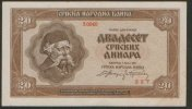 SERBIA 20 DINARS 1.05.1941  P-   XF+/AU (227) - Servië