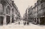 CPA REIMS Le Casino Et La Rue De L Etape, Animée - Reims