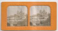 VUE STEREOSCOPIQUE ALBUMINE ( 1870) - LAUSANNE PANORAMA - TRES RARE - Visionneuses Stéréoscopiques