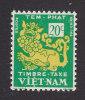 Vietnam, Scott #J2, Mint Hinged, Temple Lion, Issued 1952 - Vietnam
