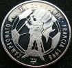 Cuba 10 Peso 1996 Football World Cup France 98 Silver Proof - Cuba