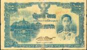 Thailand, 20 Baht, Pick 49 D, TB 75a, Sign.19,1944, RARE ! - Thailand