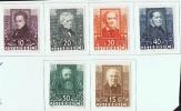 1931  Poètes Autrichiens  Mi Nr 524-9  * MH - 1918-1945 1. Republik