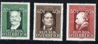 1948  Artistes Autrichiens: Ziehner * Mh, Stiffer ** MNHH , Amerling  ** MNh - Ungebraucht