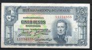 1- URUGUAY -1939 Billetes De 5 Pesos Term.355 - Uruguay