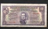 11- URUGUAY -1939 Billetes De 10 Pesos Term. 366 - Uruguay