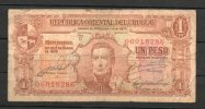 12- URUGUAY -1939 Billetes De 1 Peso Term. 286-Serie D - Uruguay