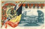 Bruxelles - 75 E Anniversaire De L´Indépendance De La Belgique- Carte Patriotique, Drapeau Belge - België