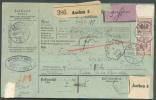 TP Allemands De 50 Pfg (paire Bdf) Obl. Càd Pont De AACHEN 5 Octobre 1892 S/bulletin D´expédition (exp/ : G. Koenig - Ap - Railway