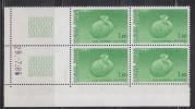 = Coin Daté 1985 Conseil De L'Europe Pied Chaussé Sortant D'un Oeuf, 1f.80 Vert, N°85 Service - Servicio