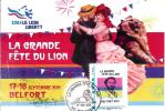 CP  La Grande Fête Du Lion 17-18 Septembre 2011 Belfort Abimé Dans Les Coins Trace De Plis Léger - Altri Comuni