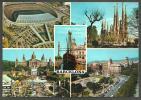 BARCELONA  -  DIVERSAS  VISTAS DE LA CIUDAD - VIA  COLOR - CIRCULADA, SELLO DESPRENDIDO - Barcelona